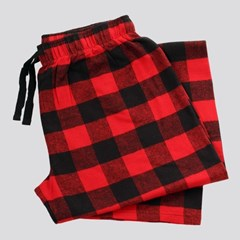 Image of Pajama Bottom Lumberjack Red Plaid