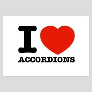 I Love Accordions 3.5 x 5 Flat Cards