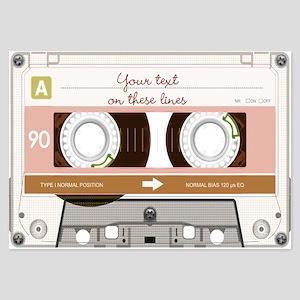 Cassette Tape - Tan 3.5 x 5 Flat Cards
