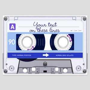 Cassette Tape - Blue 3.5 x 5 Flat Cards