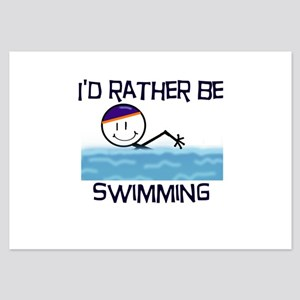 2-IdRatherBeSwimming 3.5 x 5 Flat Cards