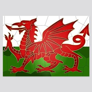 Welsh Flag In Mosaic Pattern 3.5 X 5 Invitations