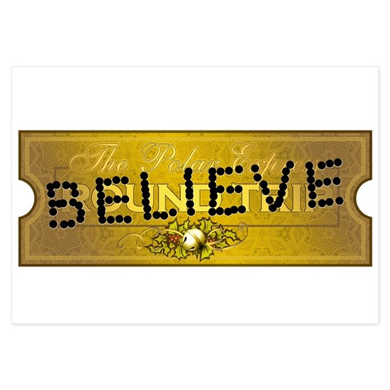 Polar Express Punched Ticket Believe 3 5 X 5 Fla