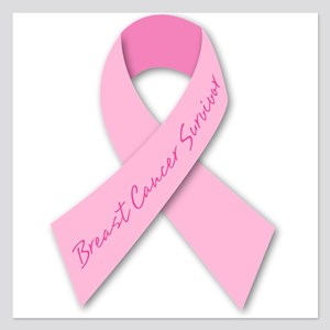 breast cancer survivor 5.25 x 5.25 Flat Cards