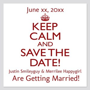 Personalize Save The Date! 5.25 X 5.25 Flat Cards