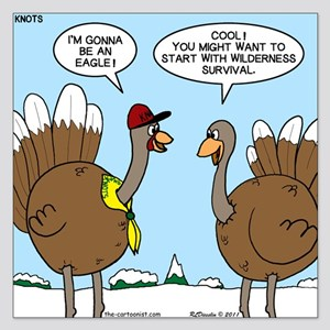 Talking Turkey 5.25 x 5.25 Flat Cards