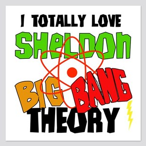 I Love Sheldon Big Bang Theory 5.25 x 5.25 Flat Ca