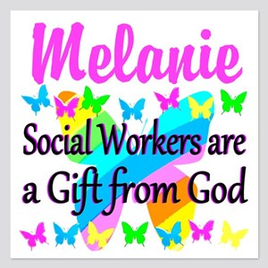 SOCIAL WORKER 5.25 x 5.25 Flat Cards