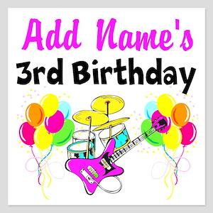 HAPPY 3RD BIRTHDAY 525 X Flat Cards