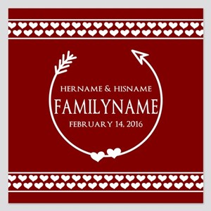 Personalized Names and Fami 5.25 x 5.25 Flat Cards