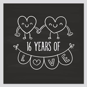 16th Wedding Anniversary.16th Wedding Anniversary Invitations And Announcements Cafepress