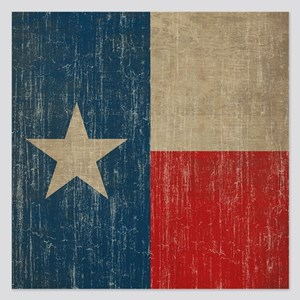 Vintage Texas Flag 5.25 x 5.25 Flat Cards