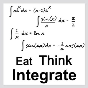 Eat. Think. Integrate. 5.25 x 5.25 Flat Cards