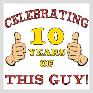 Funny 10th Birthday For Boys 525 X Flat Card