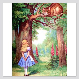 ALICE_cheshire_cat_10x14x 5.25 x 5.25 Flat Car