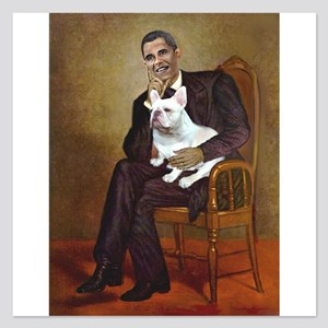 Obama-French BD (W) 5.25 x 5.25 Flat Cards