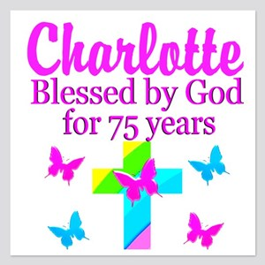 CHRISTIAN 75TH 5.25 x 5.25 Flat Cards