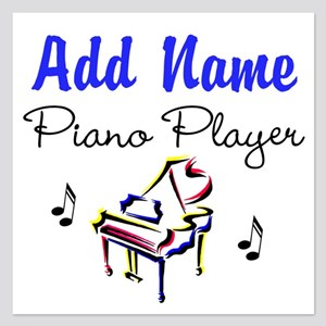 PIANO PLAYER 5.25 x 5.25 Flat Cards