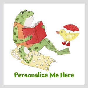 Personalized Frog 5.25 x 5.25 Flat Cards