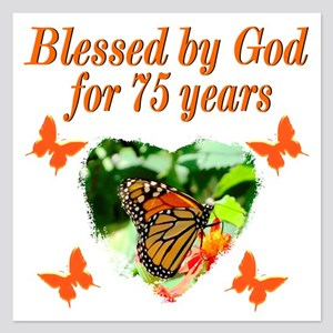 BLESSED 75TH 5.25 x 5.25 Flat Cards