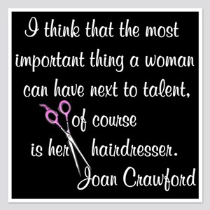 CRAWFORD HAIR QUOTE 5.25 x 5.25 Flat Cards