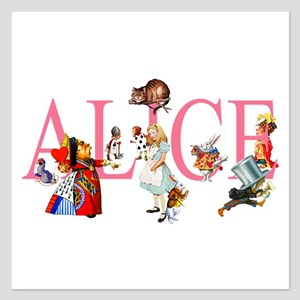 ALICE & FRIENDS IN WONDERLA 5.25 x 5.25 Flat Cards