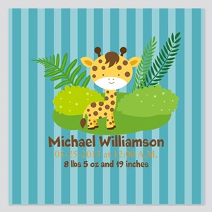 Jungle Safari Personalized 5.25 x 5.25 Flat Cards