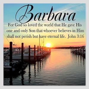 JOHN 3:16 VERSE 5.25 x 5.25 Flat Cards