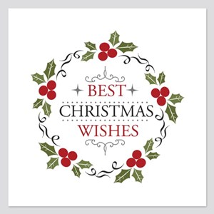 Merry Christmas - Best Chri 5.25 x 5.25 Flat Cards