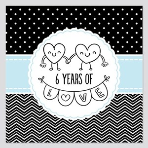 6th Anniversary Gift For He 5.25 x 5.25 Flat Cards