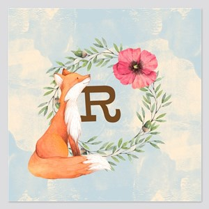 MONOGRAM Woodland Fox Invitations
