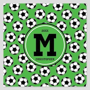 MONOGRAM Soccer Pattern Invitations