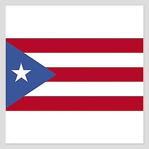 puerto rico flag clean 5.25 x 5.25 Flat Cards