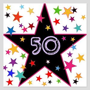 50th! Festive, Birthday, Anniversary! 5.25 x 5.25