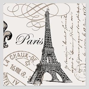 Vintage Eiffel Tower 5.25 x 5.25 Flat Cards