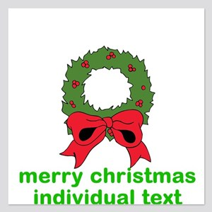 merry christmas individual text Invitations