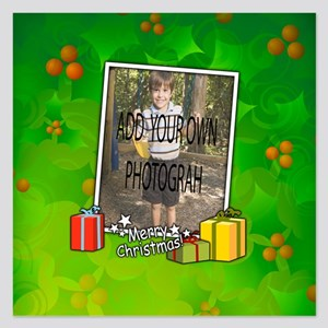 Personalized Christmas photo template Invitations
