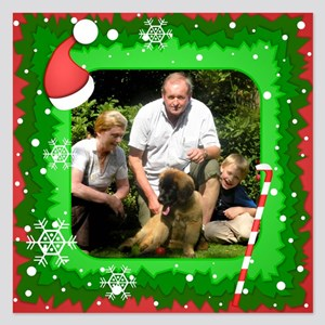Personalizable Christmas Photo Frame 5.25 x 5.25 F