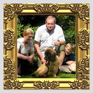 Custom gold baroque framed photo 5.25 x 5.25 Flat