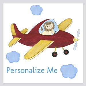 Personalized Airplane 5.25 x 5.25 Flat Cards