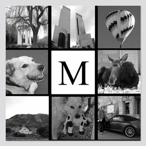 Monogrammed Photo Block Invitations