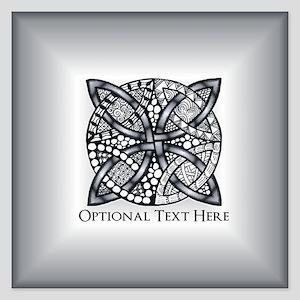 Celtic Knot Silver Customiz 5.25 x 5.25 Flat Cards