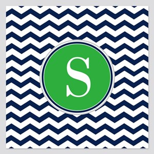 Any Letter, Navy Blue and G 5.25 x 5.25 Flat Cards
