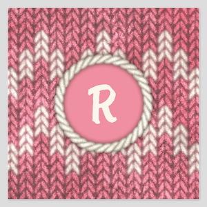 MONOGRAM Knit Graphic Pink Invitations