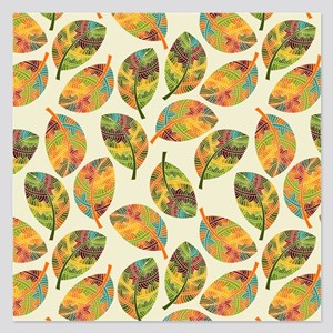 Autumn Leaves- 5.25 x 5.25 Flat Cards