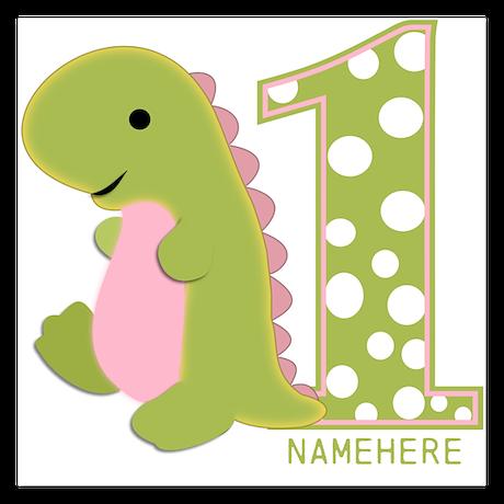 Customized First Birthday Green Dinosaur Invitations By Bimbykids