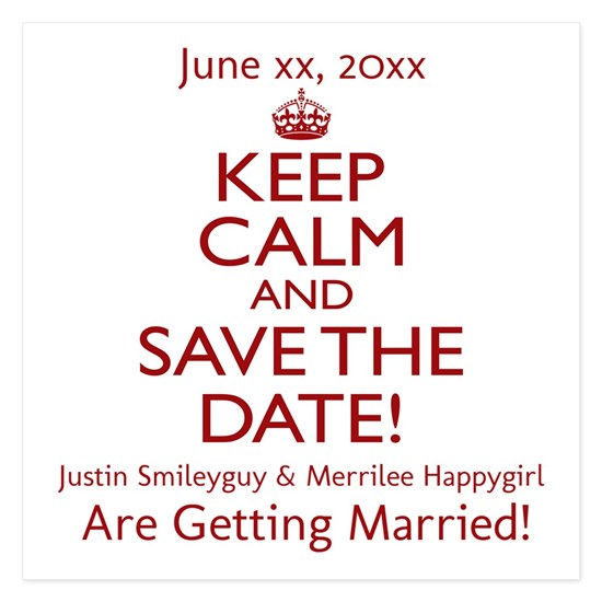 Personalize Save The Date!
