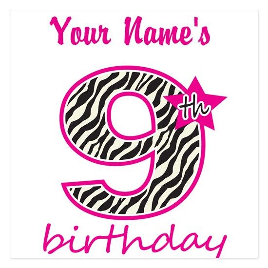 9th Birthday - Personalized