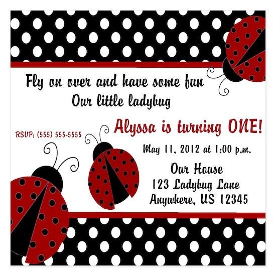 Ladybug Girls Invitation