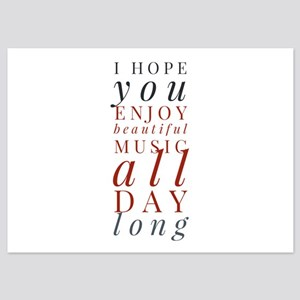 Personalizable Music Notes 5x7 Flat Invitations